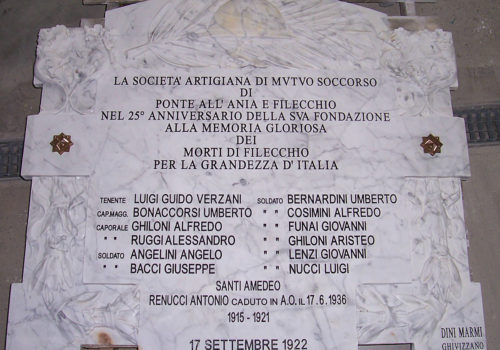 Incisione Targa Commemorativa in Marmo