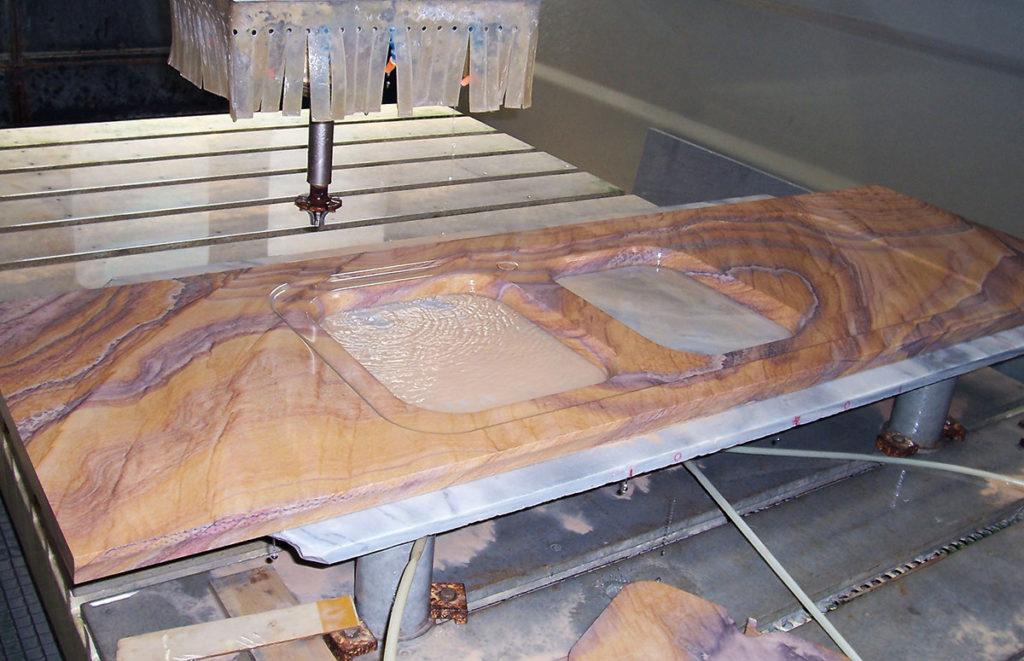 Piano Cucina In Marmo Travertino.Marmo Per Cucina Lavabo In Pietra Top Cucina Silestone Quarzo